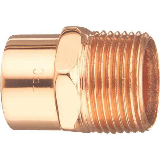 Mueller Streamline 2 In. Male Copper Adapter