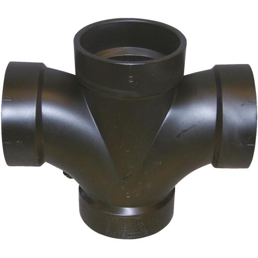 Charlotte Pipe 3 In. All Hub Double Sanitary ABS Waste & Vent Tee