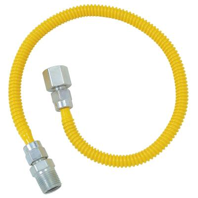 BrassCraft ProCoat 3/8 In. x 1/4 In. x 24 In. Gas Connector