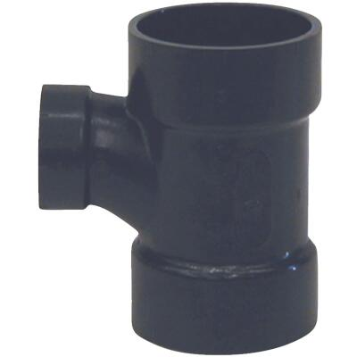 Charlotte Pipe 2 x 1-1/2 x 2 In. Hub x Hub x Hub Reducing Sanitary ABS Waste & Vent Tee