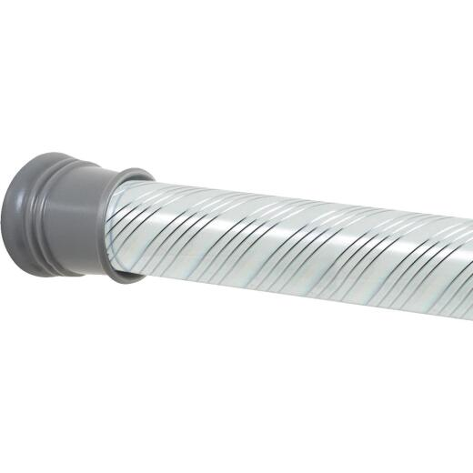 Zenith Straight 42 In. To 72 In. Adjustable Tension Shower Rod in Chrome