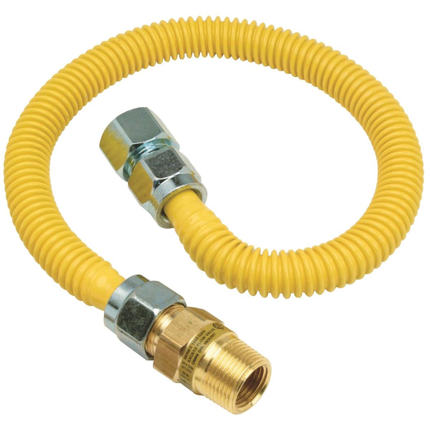 BrassCraft Safety +PLUS 5/8 In. 1/2 In. 48 In. Gas Connector Image 1