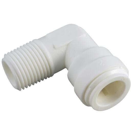 Anderson Metals 3/8 In. OD x 1/4 In. MIP Push-in Male Plastic Elbow