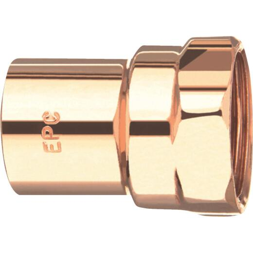 Mueller Streamline 1/2 In. x 1/4 In. Female Copper Adapter