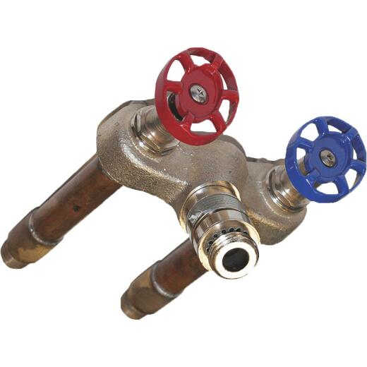 Arrowhead Brass 1/2 In. SWT X 1/2 In. MIP X 12 In. Hot & Cold Anti-Siphon Frost Free Wall Hydrant