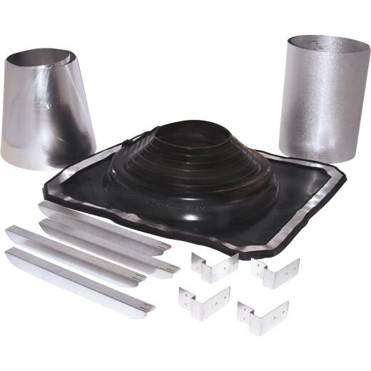 SELKIRK 5 to 8 In. Galvanized w/EDPM Roof Pipe Flashing Boot Kit