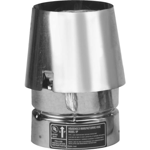 SELKIRK VP Pellet Pipe 3 In. x 5-3/4 In. Galvanized Stove Pipe Cap