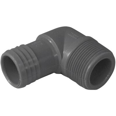 Boshart 1-1/4 In. Male Polypropylene Insert Elbow