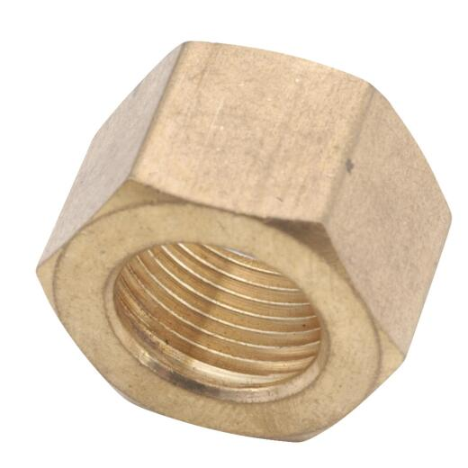 Anderson Metals 1/4 In. Brass Compression Nut (50-Pack)