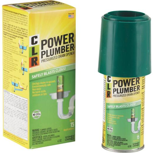 CLR Power Plumber 4 Oz. Lemon Scented Air-Pressure Drain Opener