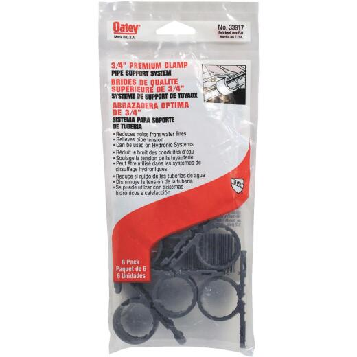 Oatey Standard 3/4 In. Plastic Nail-On Pipe Clamps, (6-Pack)