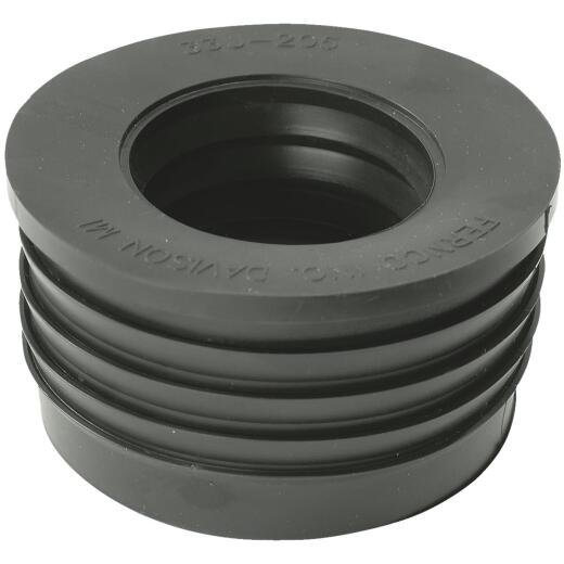 Fernco DWV 3 In. x 2 In. Sewer and Drain PVC Iron Pipe Hub Adapter
