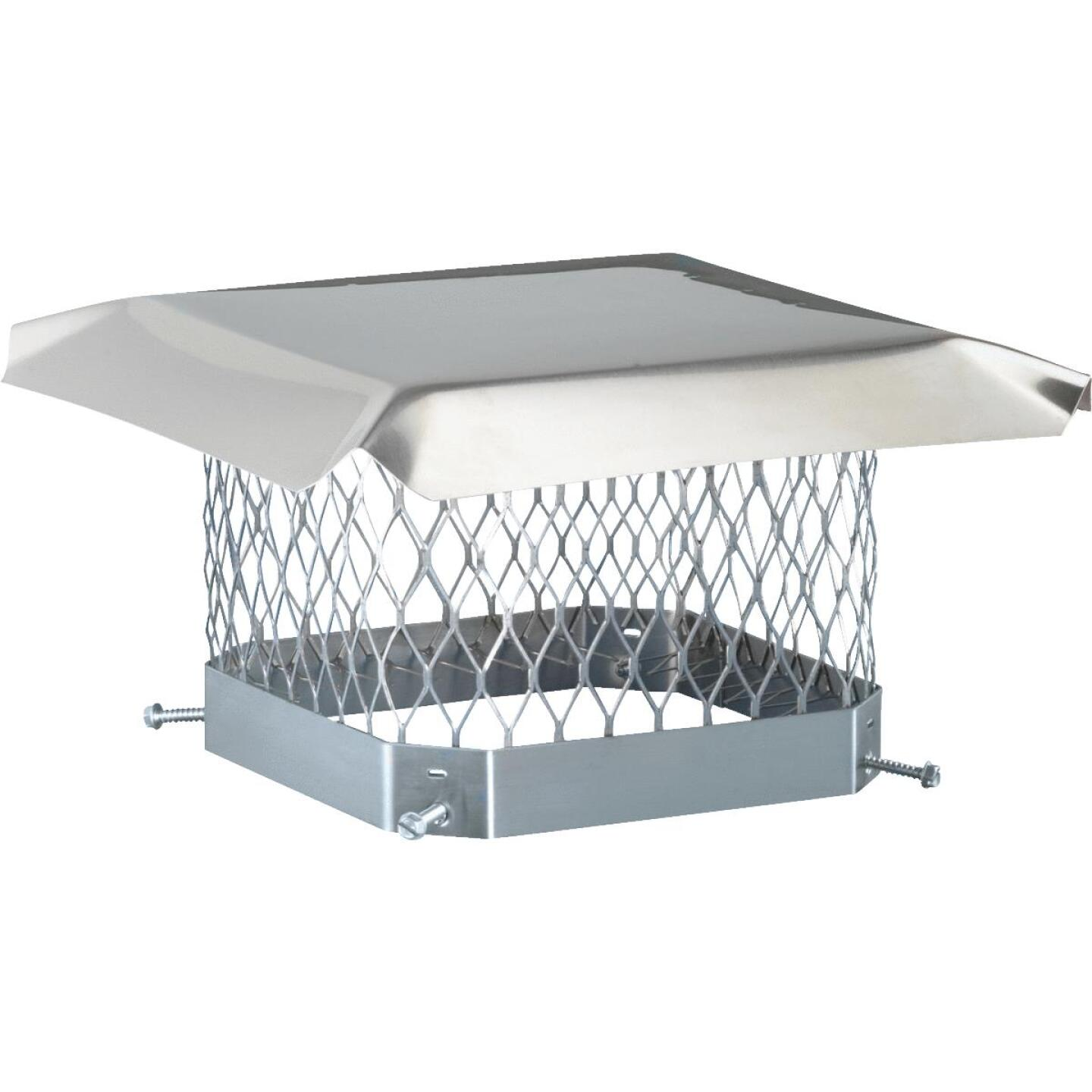 Shelter 9 In. x 9 In. Stainless Steel Single Flue Chimney Cap Image 1