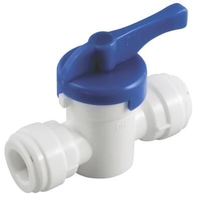 Anderson Metals 3/8 In. x 3/8 In. Plastic Push-In Ball Valve