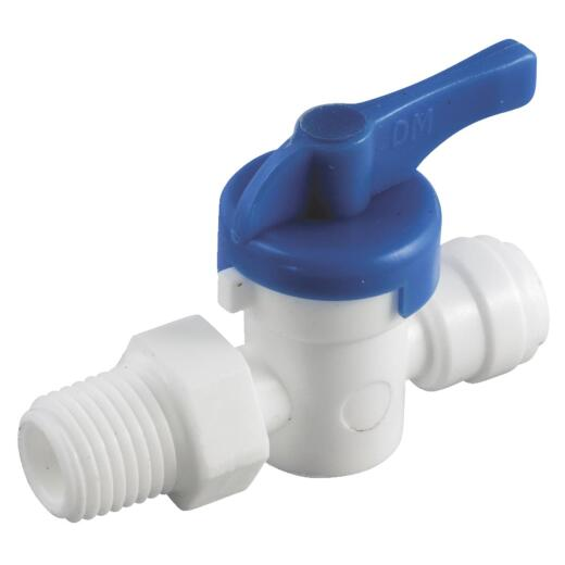 Anderson Metals 1/4 In. x 1/4 In. MIP Plastic Push-In Ball Valve