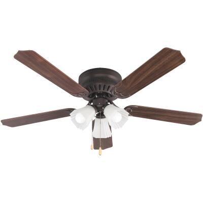 Home Impressions Piedmont 52 In. Oil Rubbed Bronze Ceiling Fan with Light Kit