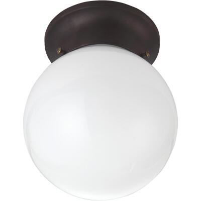 Home Impressions 6 In. Oil Rubbed Bronze Incandescent Flush Mount Ceiling Light Fixture
