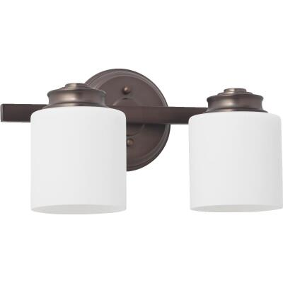 Home Impressions Crawford 2-Bulb Oil Rubbed Bronze Bath Light Bar