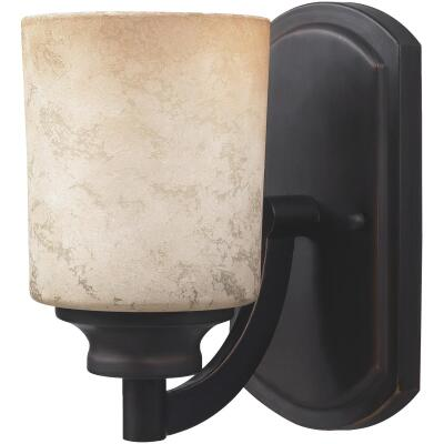 Home Impressions Warren 1-Bulb Rubbed Antique Bronze Wall Light Fixture