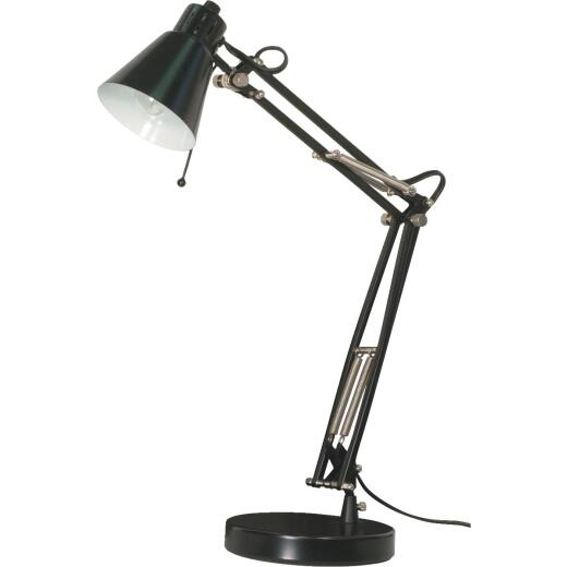Satco Black Incandescent Drafting Desk Lamp