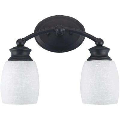 Home Impressions Palms 2-Bulb Oil Rubbed Bronze Vanity Bath Light Bar