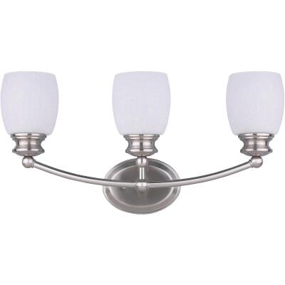 Home Impressions Palms 3-Bulb Brushed Nickel Vanity Bath Light Bar