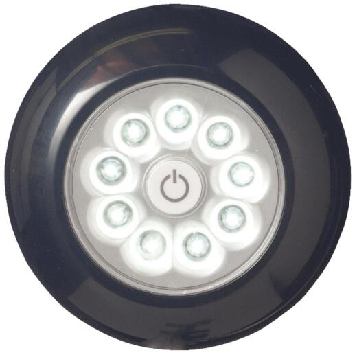 Light It 9-Bulb Black LED Battery Tap Light