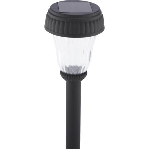 Outdoor Expressions Black 2.10 Lumens Plastic Solar Path Light