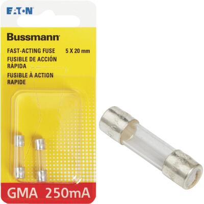 Bussmann 250A GMA Glass Tube Electronic Fuse (2-Pack)
