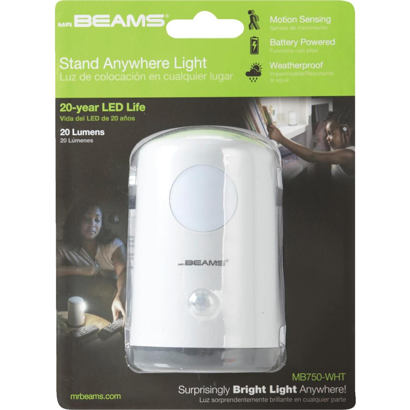 Mr. Beams White Hands Free Stand Anywhere Outdoor Battery Operated LED Light Image 2