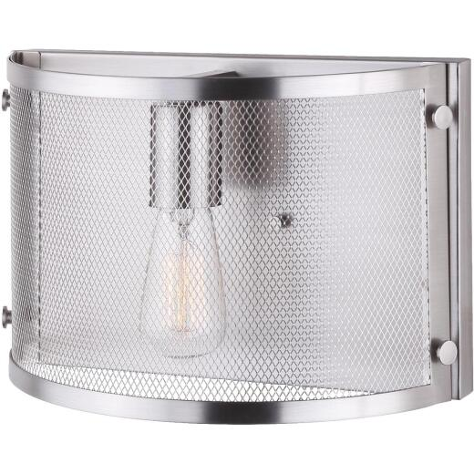 Home Impressions Beckett 1-Bulb Brushed Nickel Wall Light Fixture