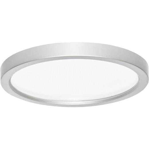 Canarm 7 In. Brushed Nickel LED Disc Flush Mount Light Fixture