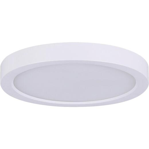 Canarm 11 In. White LED Round Disc Flush Mount Light Fixture