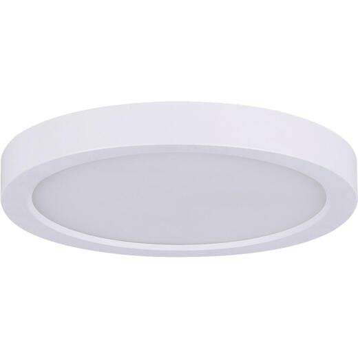 Canarm 15 In. White LED Round Disc Flush Mount Light Fixture