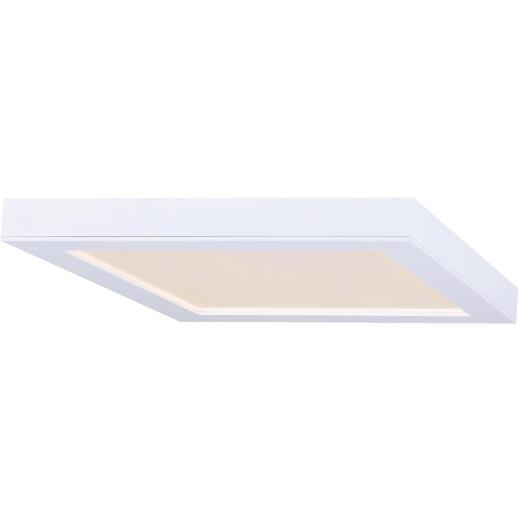 Canarm 11 In. White LED Square Disc Flush Mount Light Fixture