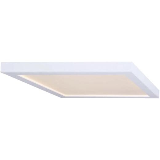 Canarm 15 In. White LED Square Disc Flush Mount Light Fixture