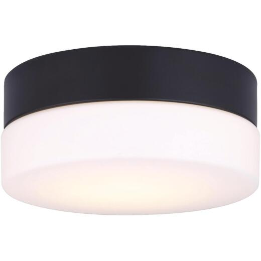 Canarm Jax 7-1/8 In. Black LED Flush Mount Light Fixture