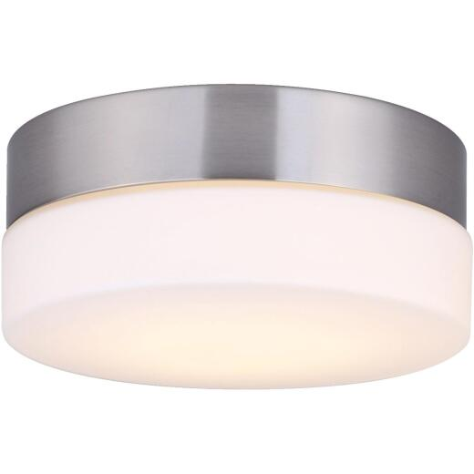 Canarm Jax 7-1/8 In. Brushed Nickel LED Flush Mount Light Fixture