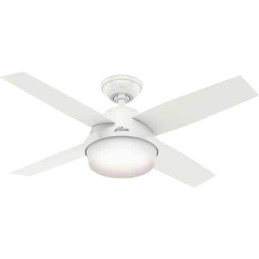 Hunter Dempsey 44 In. Fresh White Ceiling Fan with Light Kit