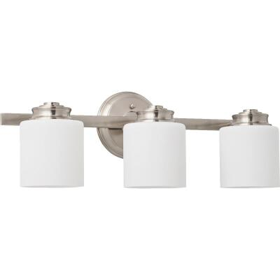 Home Impressions Crawford 3-Bulb Brushed Nickel Bronze Bath Light Bar