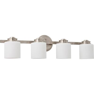 Home Impressions Crawford 4-Bulb Brushed Nickel Bronze Bath Light Bar