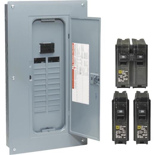 Square D Homeline 100A 20-Space 40-Circuit Indoor Main Breaker Plug-on Neutral Load Center Remodeler Pack