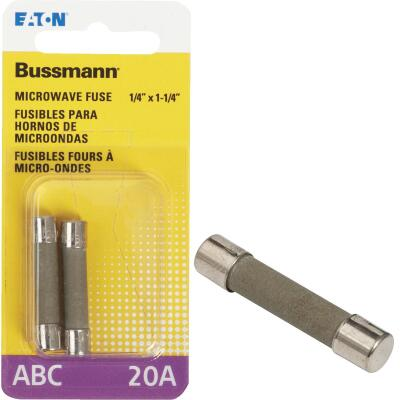 Bussmann 20A ABC Ceramic Tube Electronic Fuse (2-Pack)