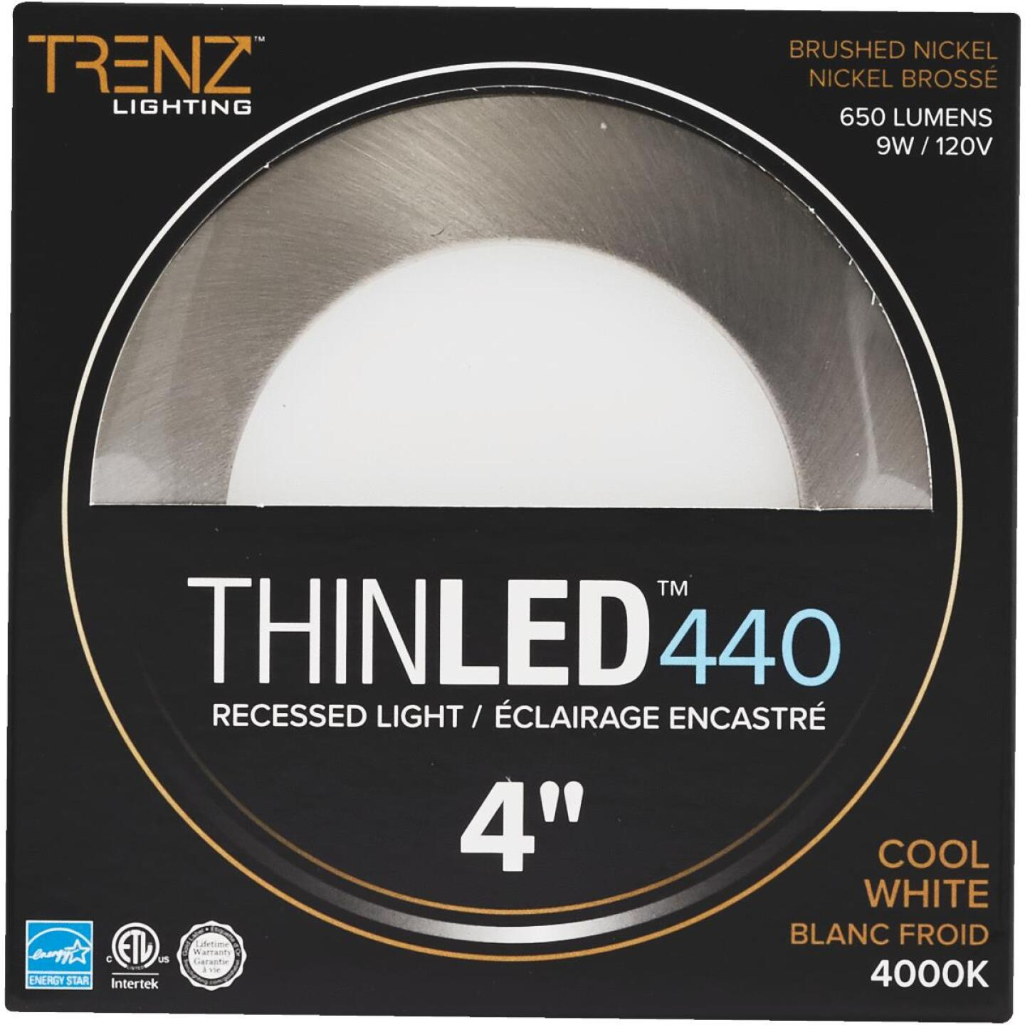 Liteline Trenz ThinLED 4 In. New Construction/Remodel IC Rated Brushed Nickel 650 Lm. 4000K Recessed Light Kit Image 2