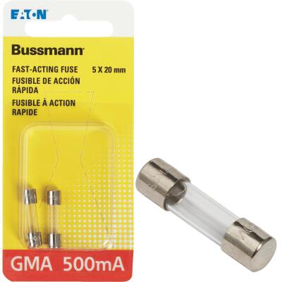 Bussmann 500A GMA Glass Tube Electronic Fuse (2-Pack)