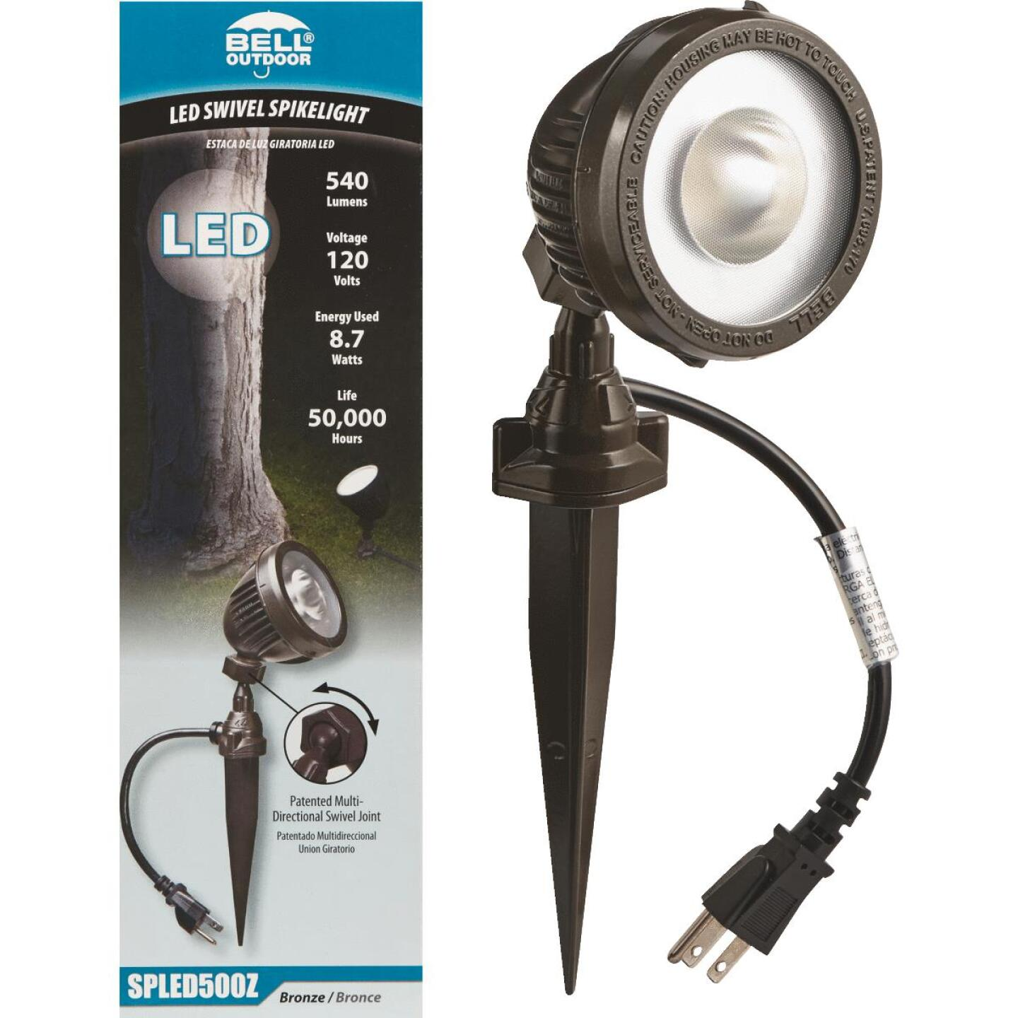 Bell LED Bronze Landscape Stake Light Image 1