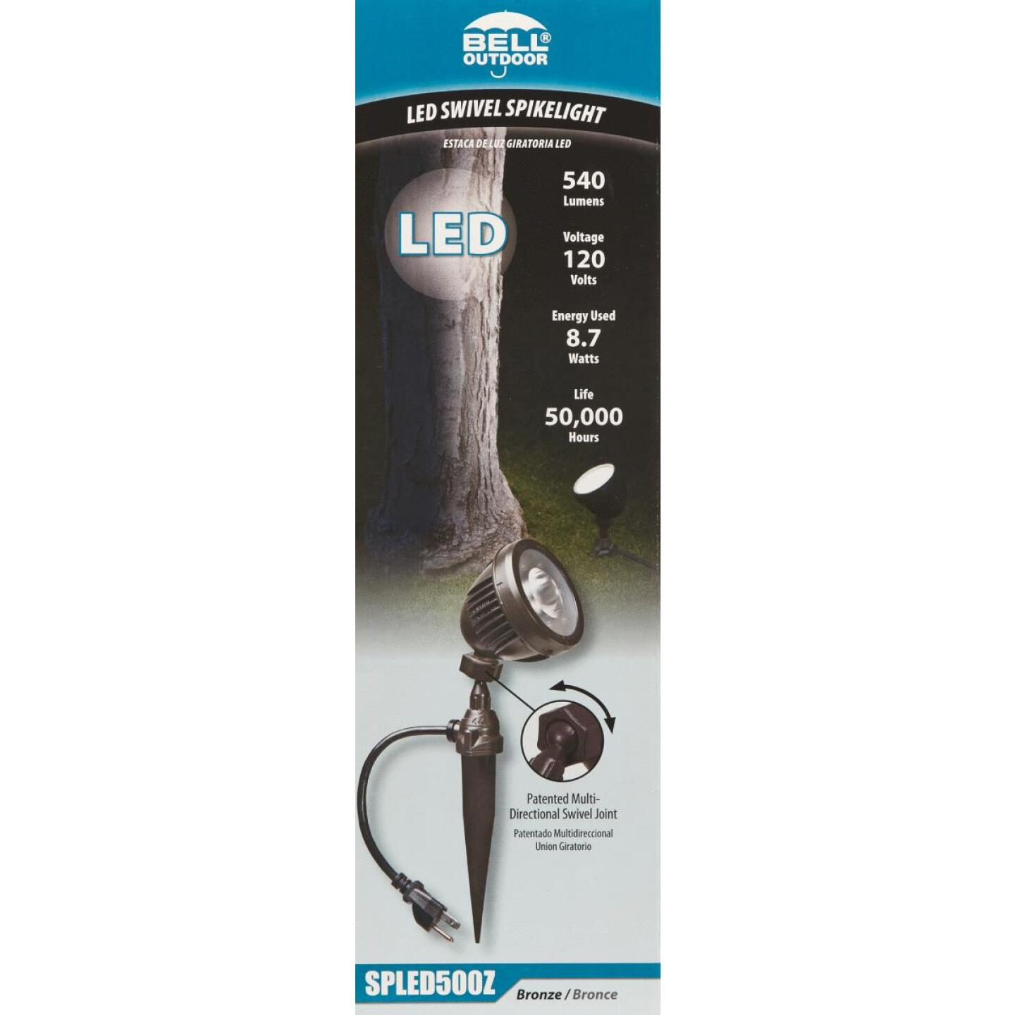 Bell LED Bronze Landscape Stake Light Image 2
