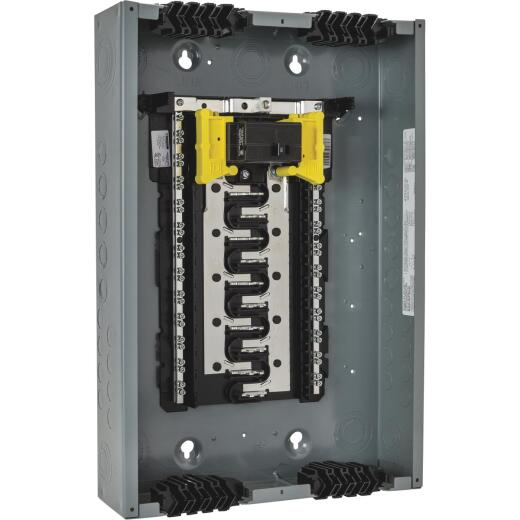 Square D Homeline Qwik-Grip 100A 40-Circuit 20-Space Indoor Main Breaker Plug-On Neutral Load Center