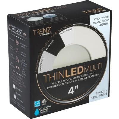 Liteline Trenz ThinLED 4 In. New Construction/Remodel IC Rated 4000K Multi-Trim Recessed Light Kit