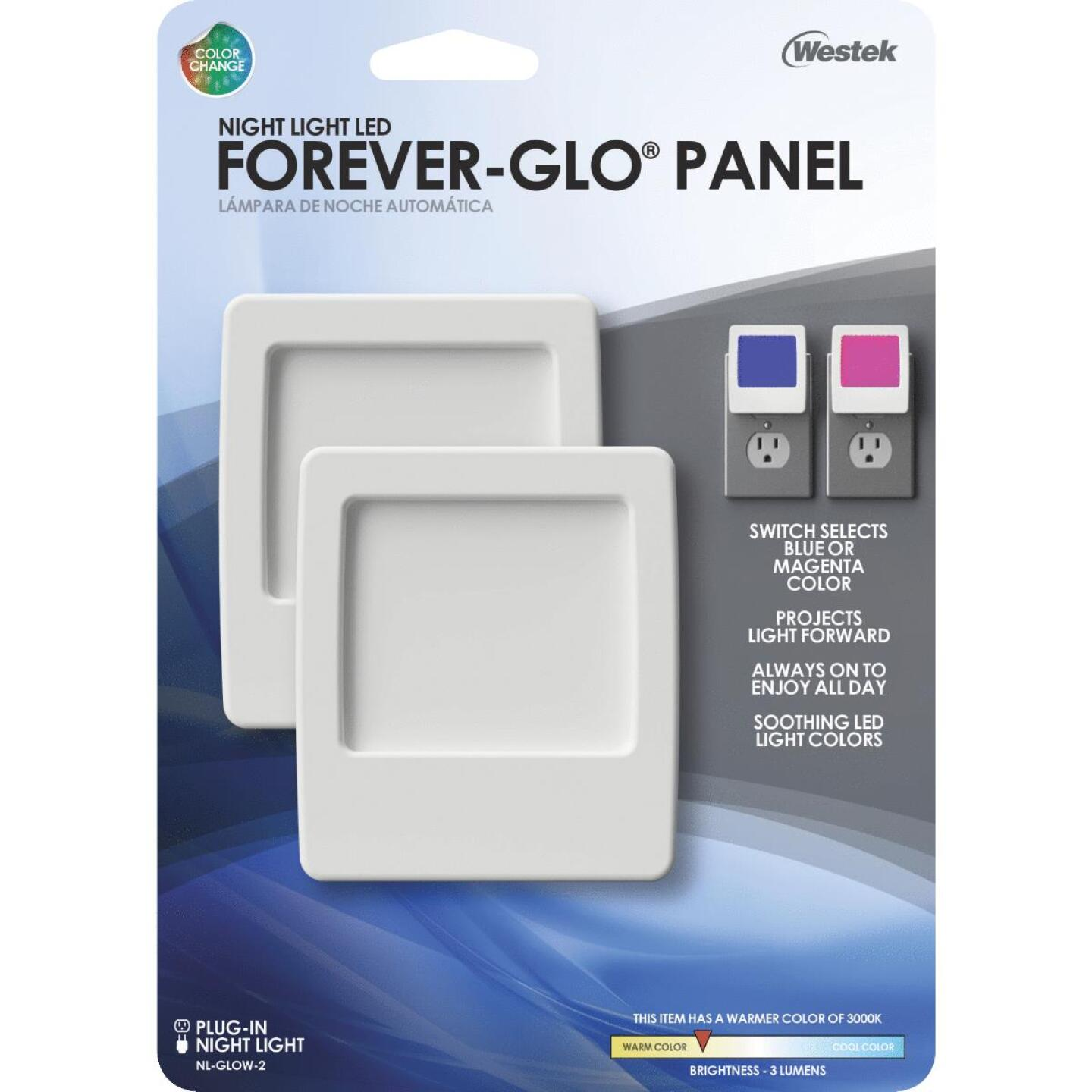 Westek Forever Glo White Plug-In LED Night Light Image 4